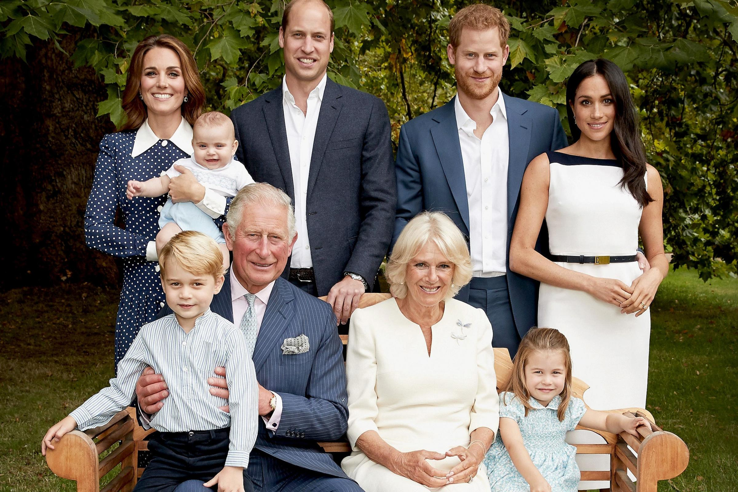 Charles enjoys giggles with grandson George as family photos mark 70th birthday