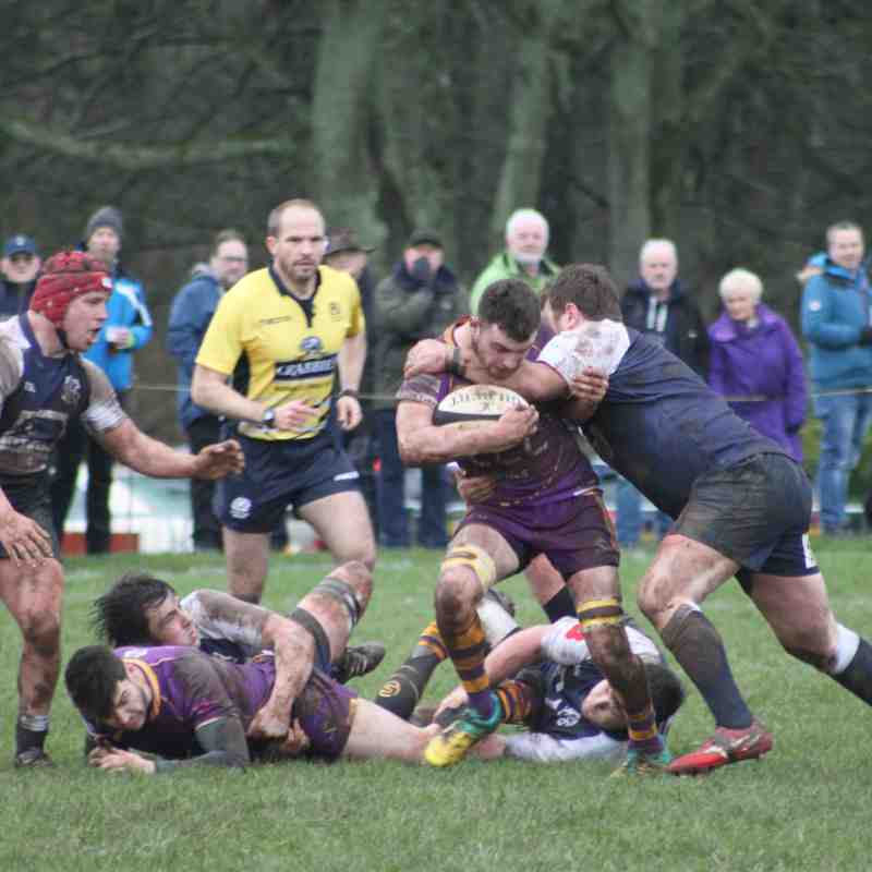 A battling performance saw Selkirk hold Marr. Photo: Marr RFC