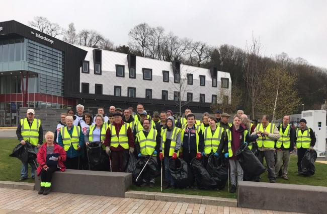 Volunteers at the recent spring clean