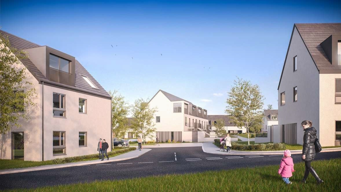 An artist's impression of how the Coopersknowe development will look