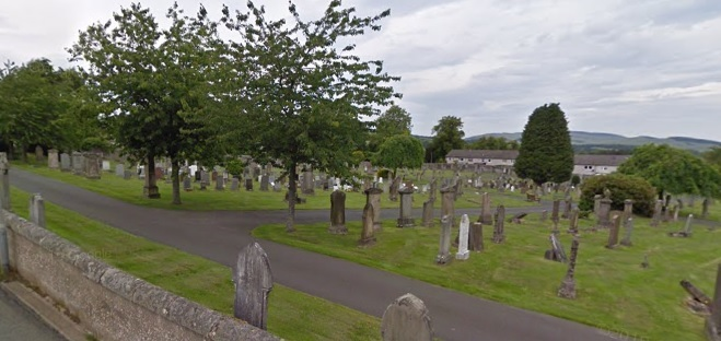 The attempted dog snatch happened in Shawfield cemetery