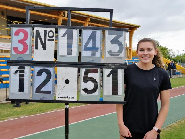 Ellie has extended her record to 12.51 metres